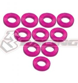 3Racing 3RAC-WF310/PK - Aluminium M3 Flat Washer 1.0mm 10Pcs Pink - 3Racing