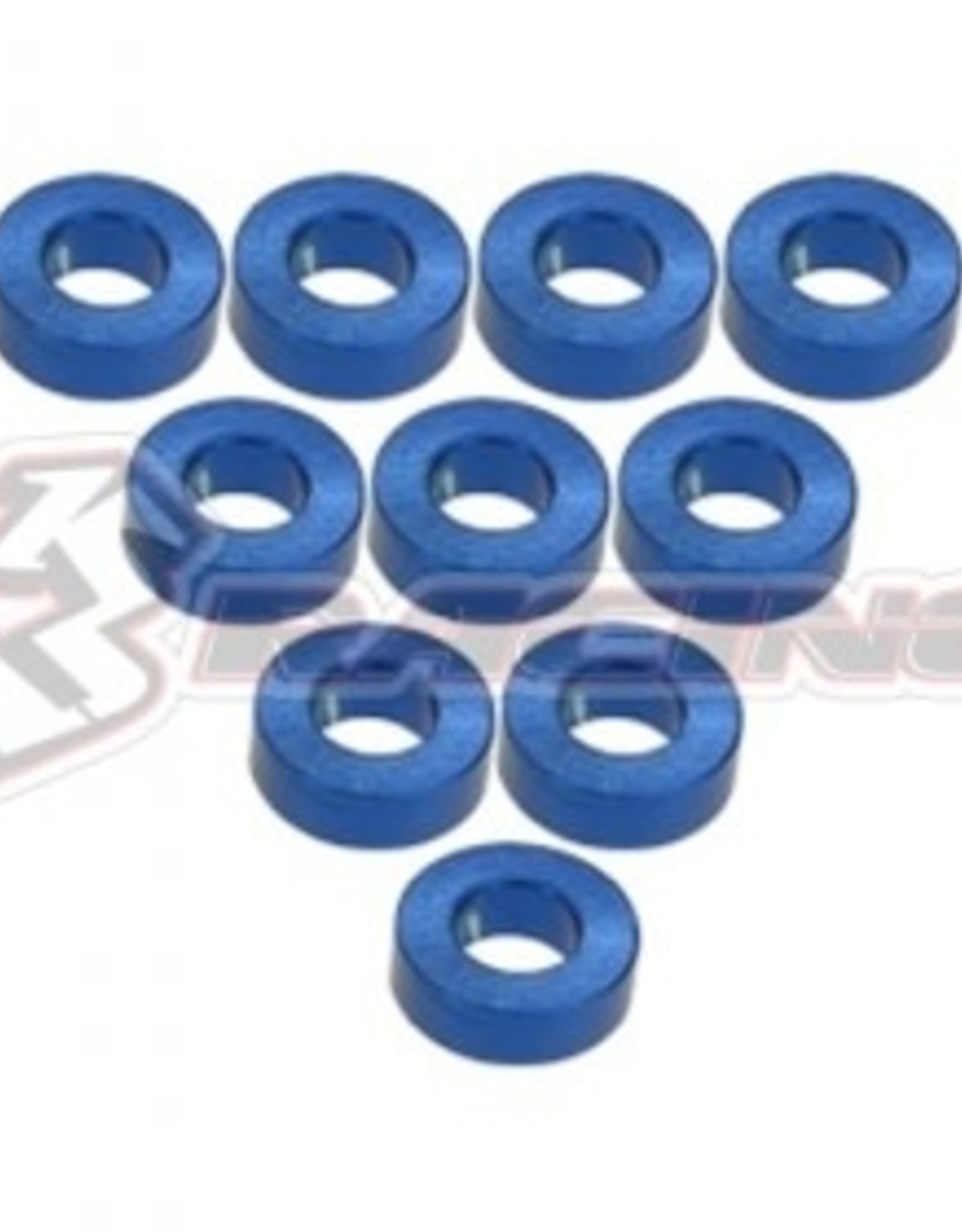 3Racing 3RAC-WF320/BU - Aluminium M3 Flat Washer 2.0mm 10Pcs Blue - 3Racing