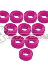 3Racing 3RAC-WF320/PK - Aluminium M3 Flat Washer 2.0mm 10Pcs Pink - 3Racing