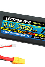 Common Sense Rc Lectron Pro™ 11.1V 7600mAh 75C Hard Case Lipo Battery with XT60 Connector
