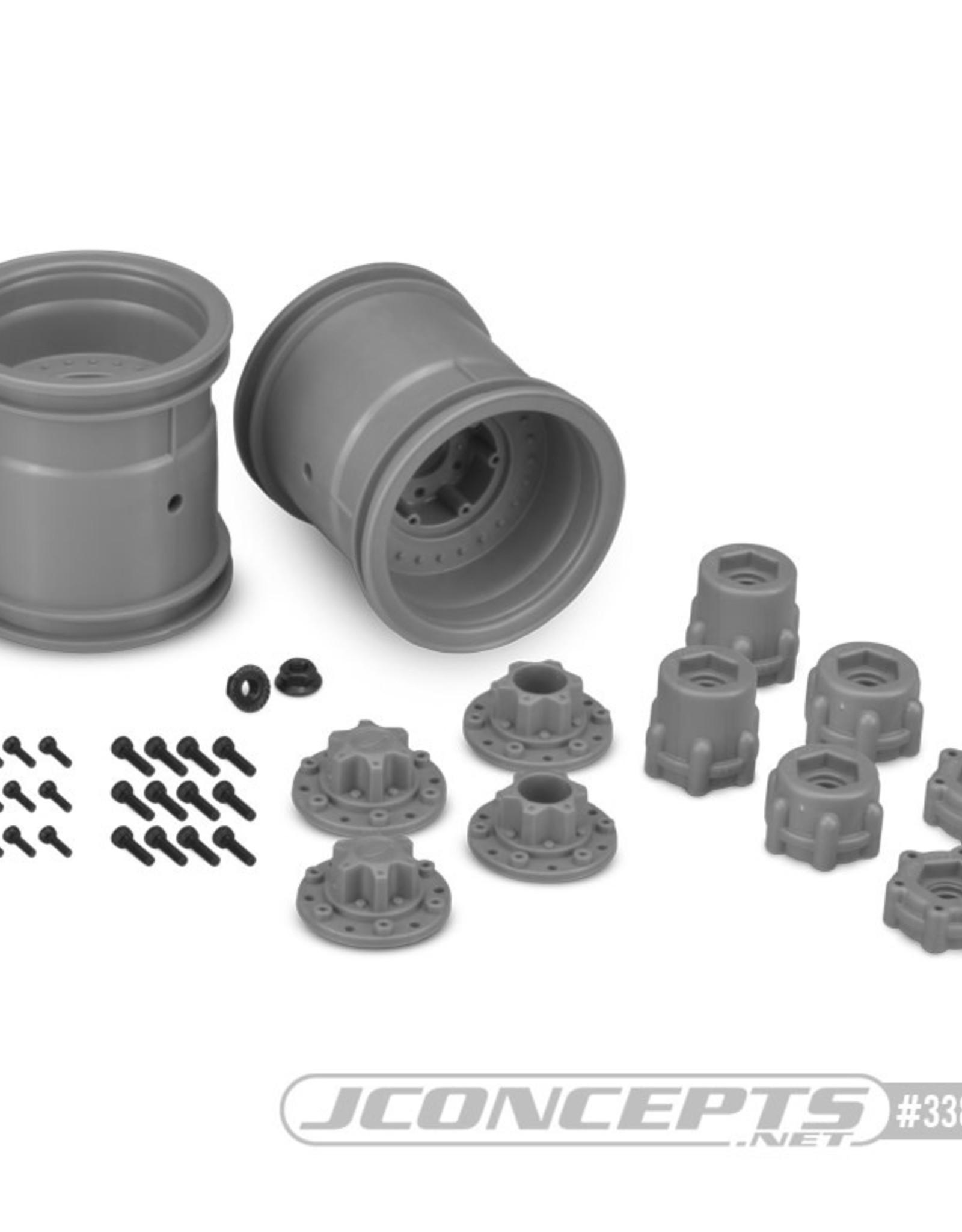 """JConcepts JConcepts Midwest 2.2"""" MT 12mm Hex Whls with Slvr Adptr (2) JCO3380S"""