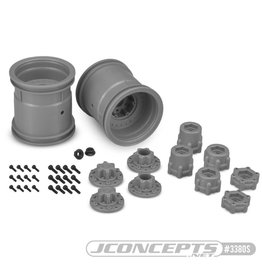 "JConcepts JConcepts Midwest 2.2"" MT 12mm Hex Whls with Slvr Adptr (2) JCO3380S"