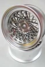 Mikuni MIKDW-1023MS MESH WHEEL Reinforced 3mm Offset (Matte Silver) (2pcs) - Mikuni DW-1023MS
