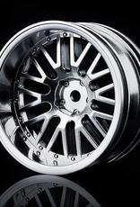 MST 10 Spoke Wheel (4pcs) by MST Flat Silver 11mm