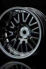 MST 10 Spoke Wheel (4pcs) by MST Silver Black 11mm