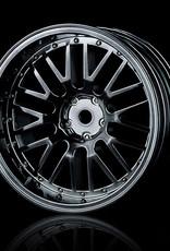 MST 10 Spoke Wheel (4pcs) by MST Silver Black 8mm