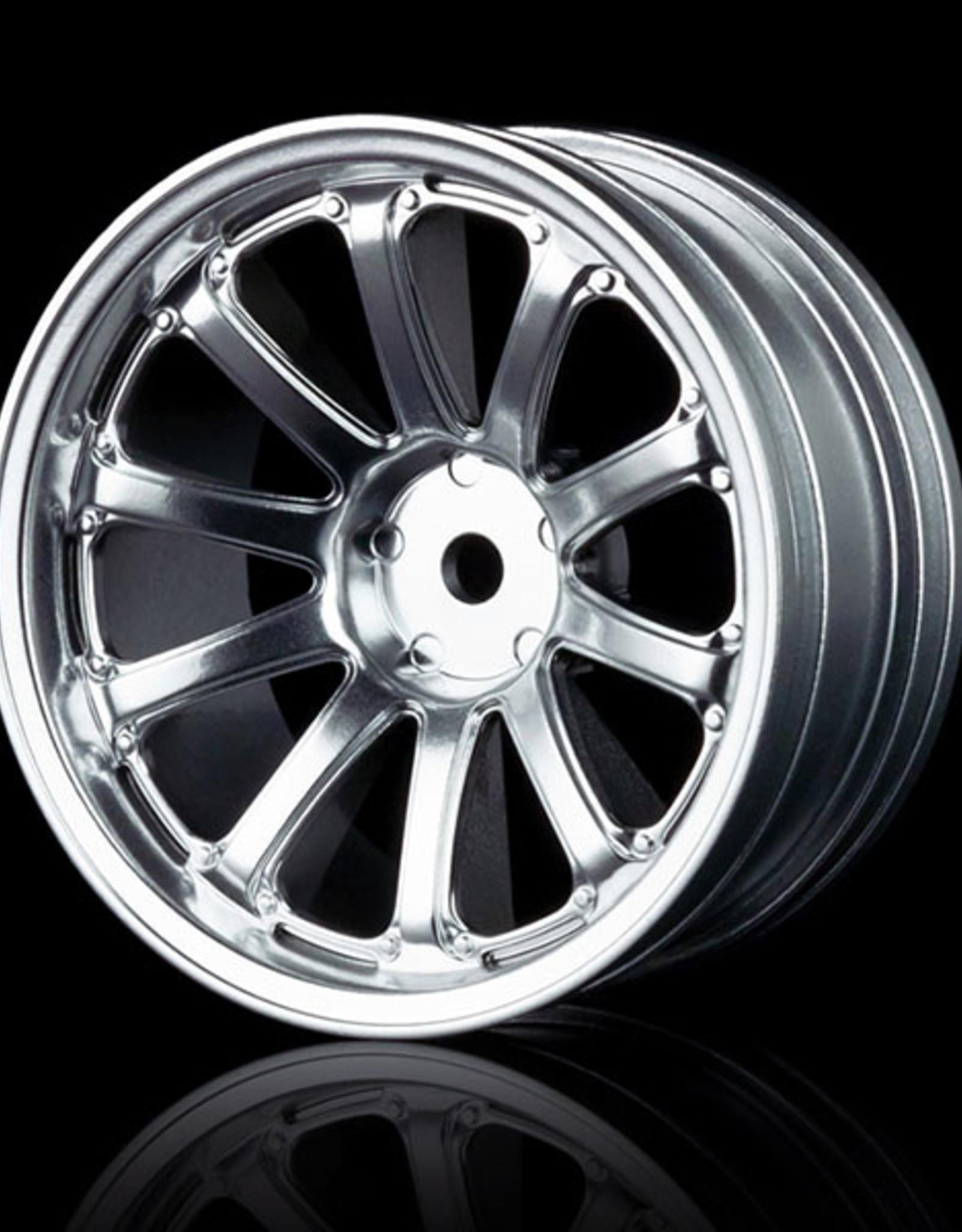 MST 77SV Wheel (4pcs) by MST Flat Silver 8mm