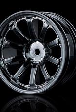 MST 77SV Wheel (4pcs) by MST Silver Black 8mm