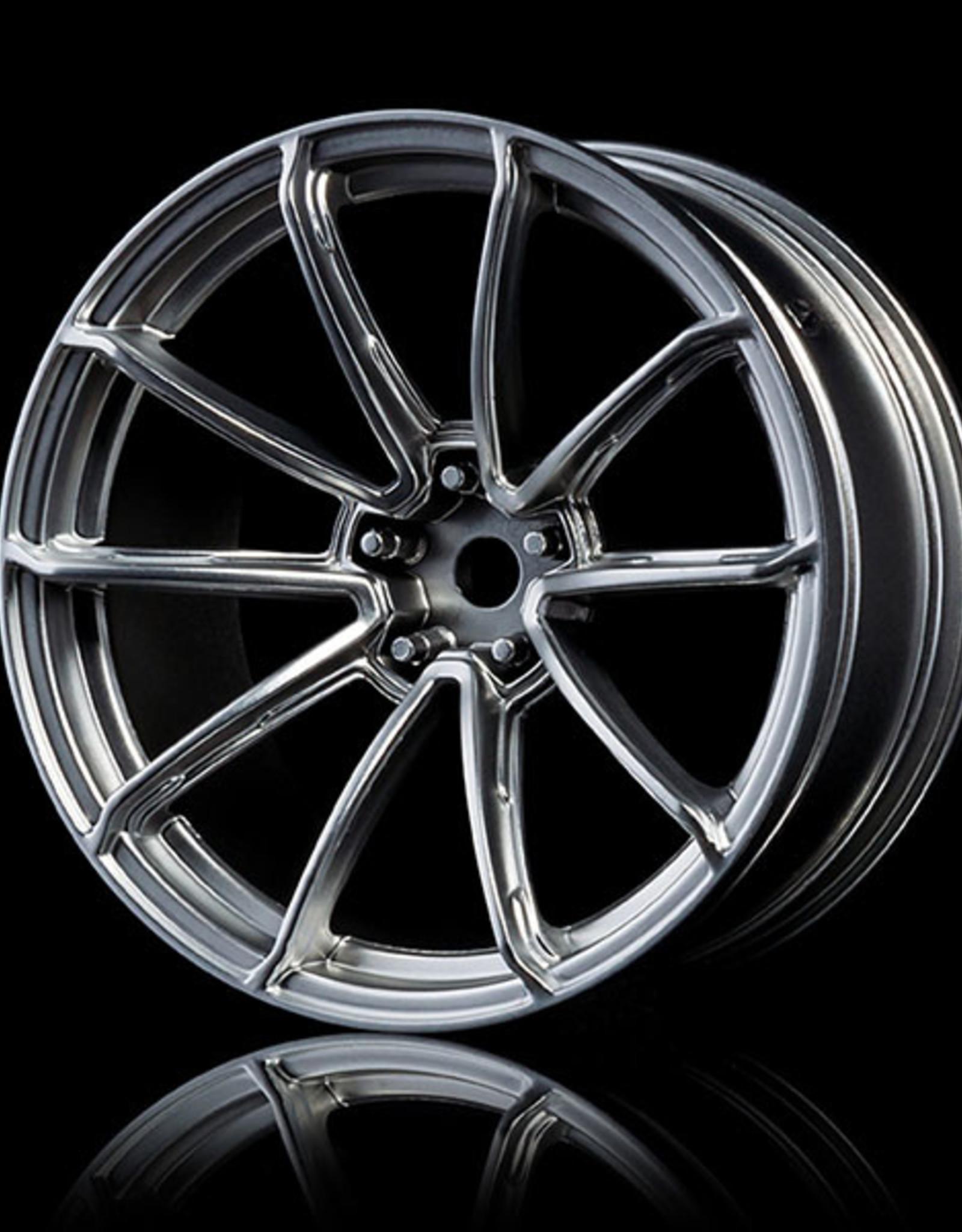 MST GTR Drift Car Wheel by MST Flat Silver 7mm
