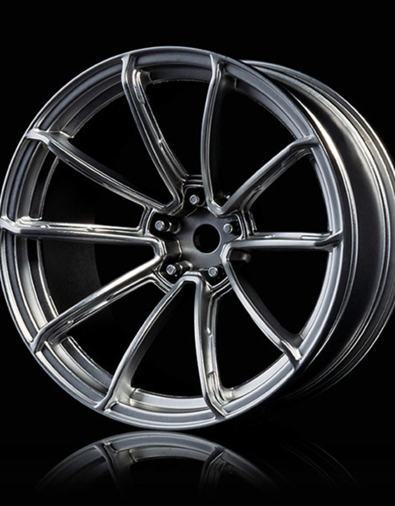 MST GTR Drift Car Wheel by MST Flat Silver 9mm