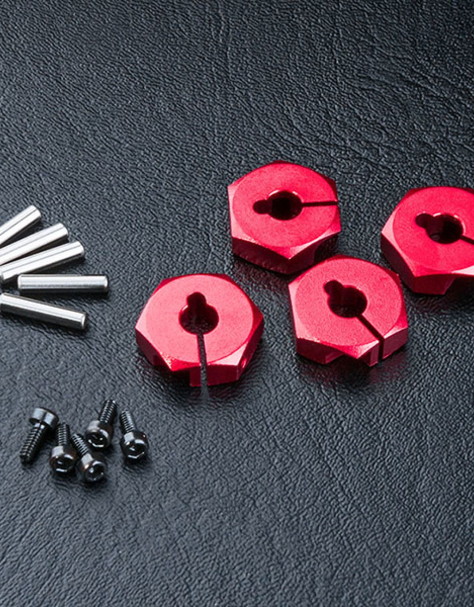 MST MXPD820043R Alum. hex. wheel hubs 5mm (red) (4) by MST