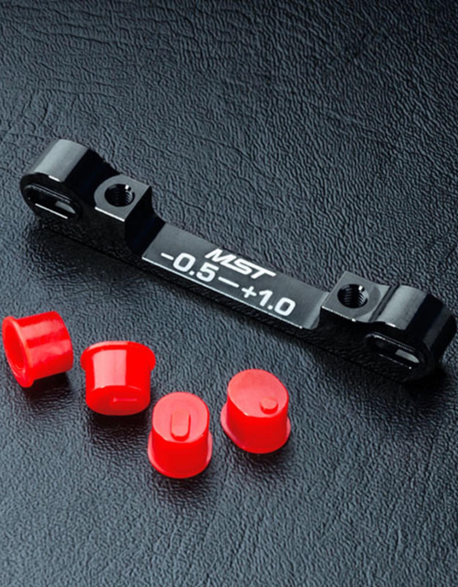 MST MXPD820057BK Adjustable alum. suspension mount (-0.5-+1.0) (black) by MST