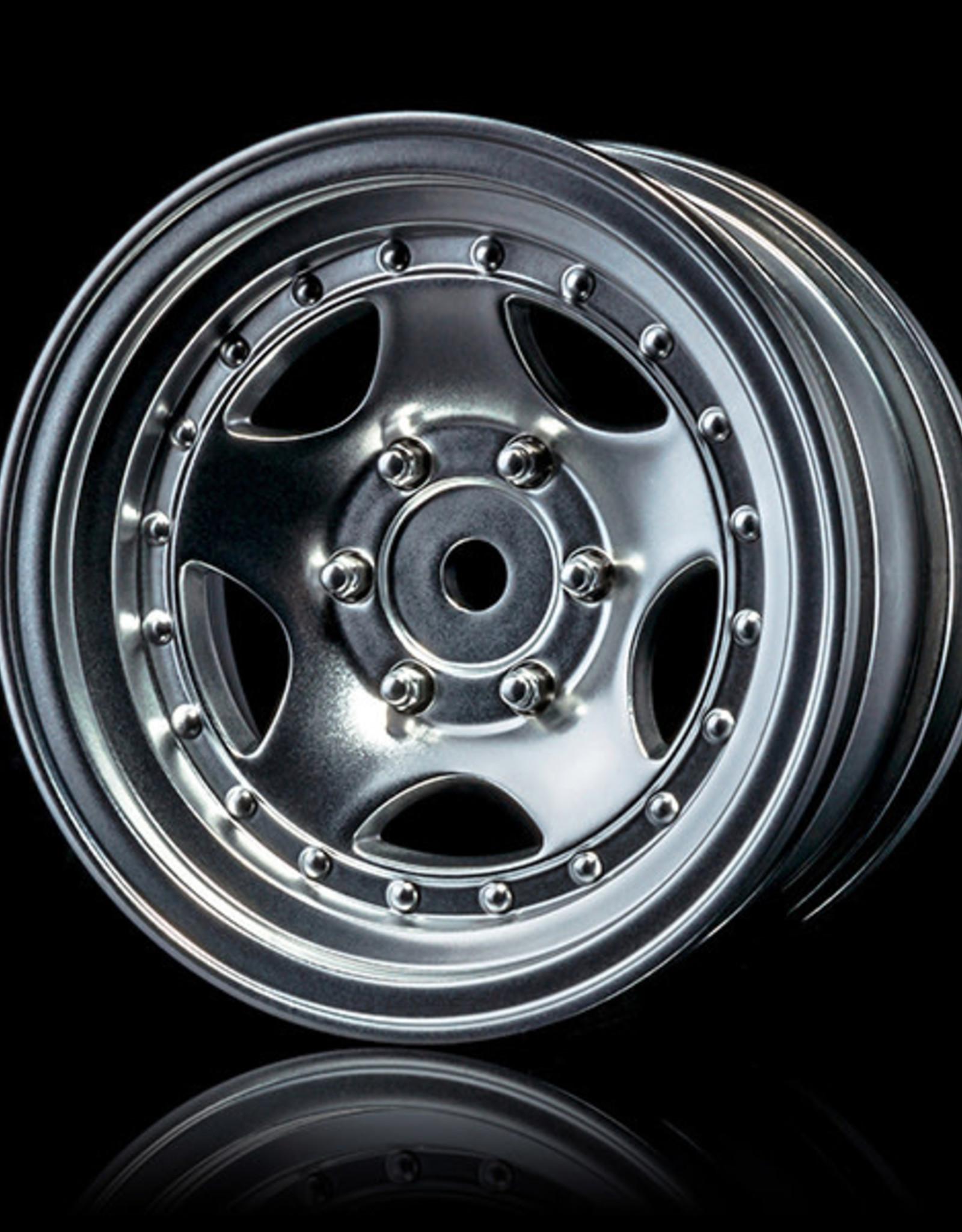 MST MXSPD102100FS Flat silver 236 wheel (+5) (4) by MST 102100FS