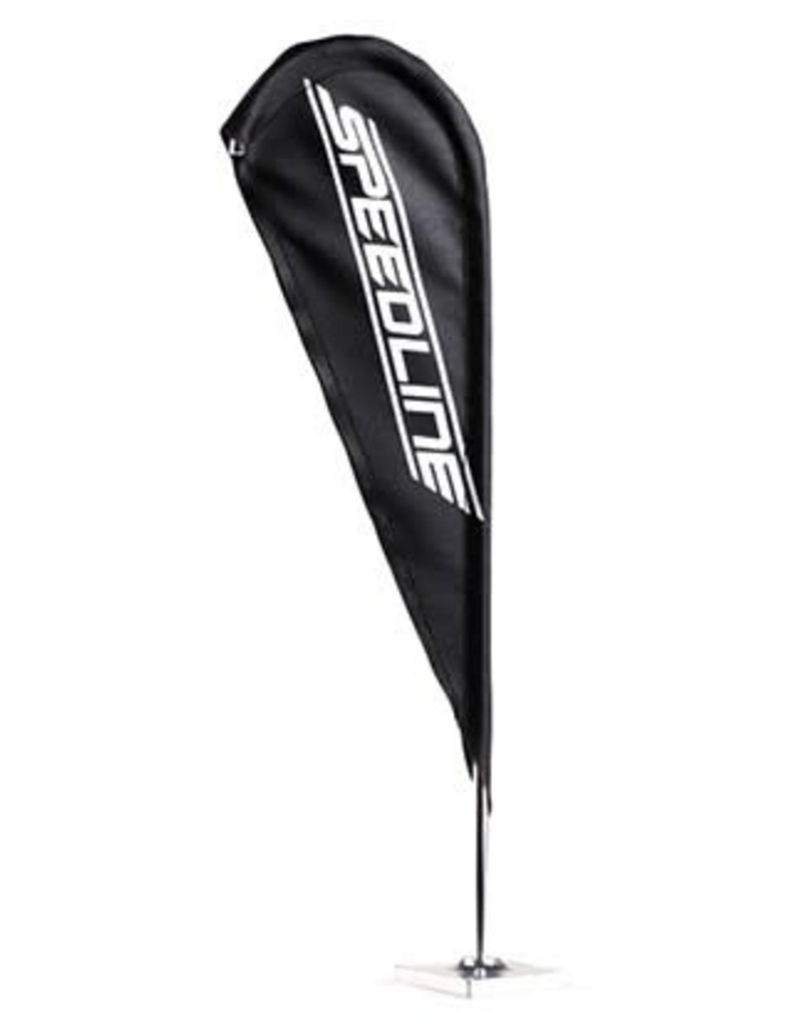 NZO N0414BL1 - Flag Speedline 24x8cm Black - NZO