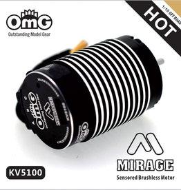 OmG OMGmirage-3853-5100KV Mirage 1:10 Offroad Brushless Motor (5100 kv) - RCOMG mirage-3853-5100KV
