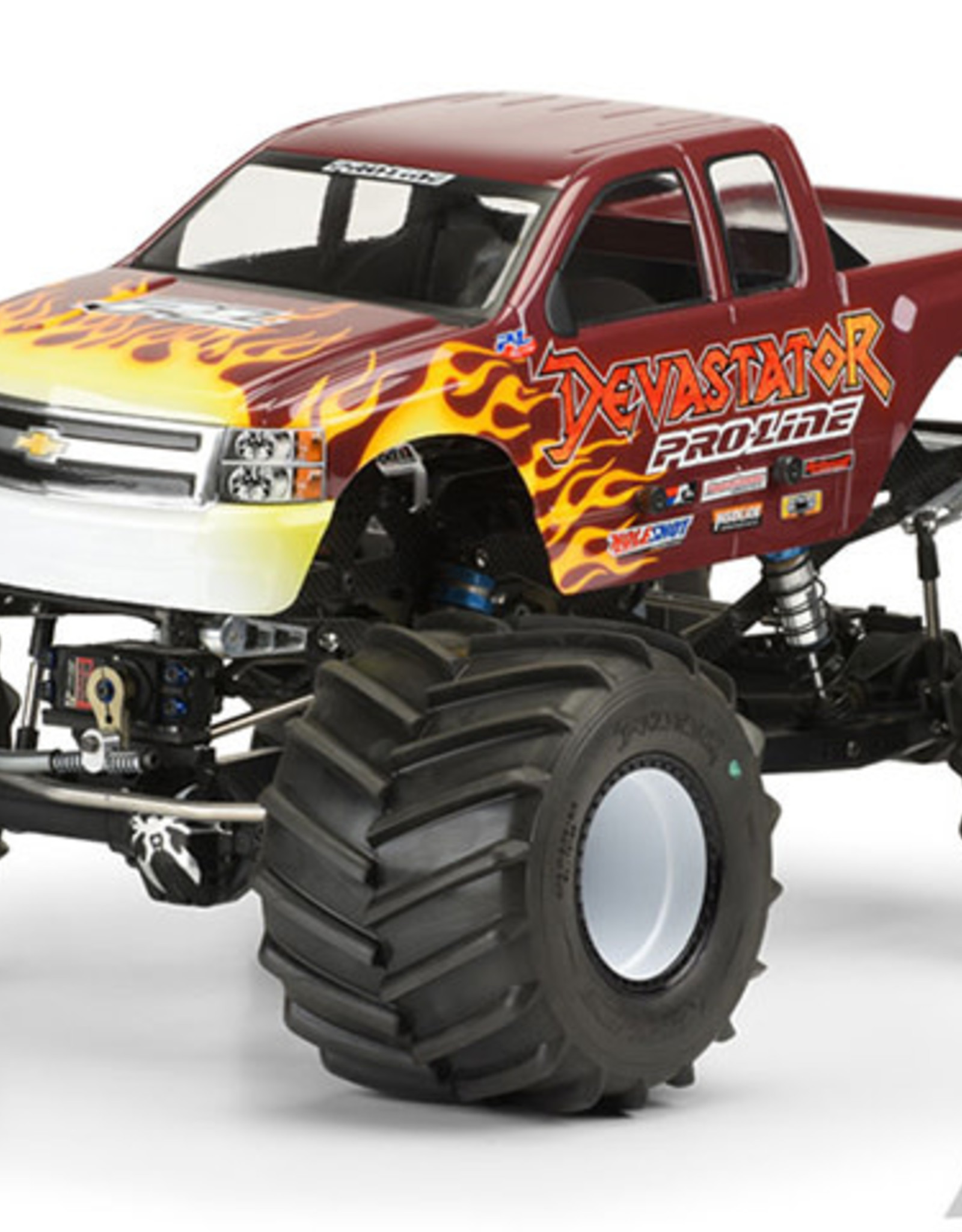 Pro-Line Proline Racing PRO3229-00 2007 Chevy Silverado Clear Body for Solid Axle Monster