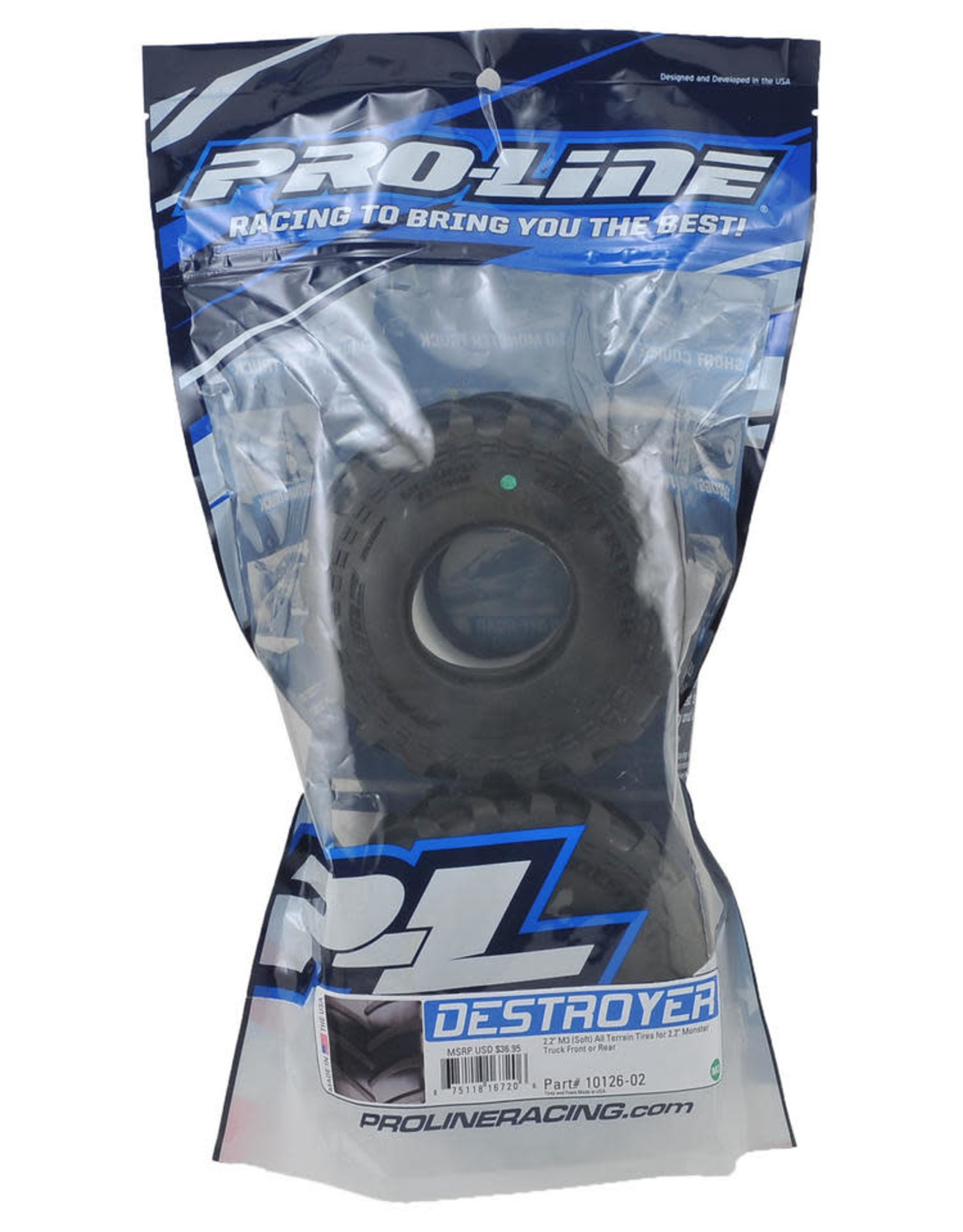 "Pro-Line Pro-Line Destroyer 2.2"" Monster Truck Tires (2) (M3) [PRO10126-02]"