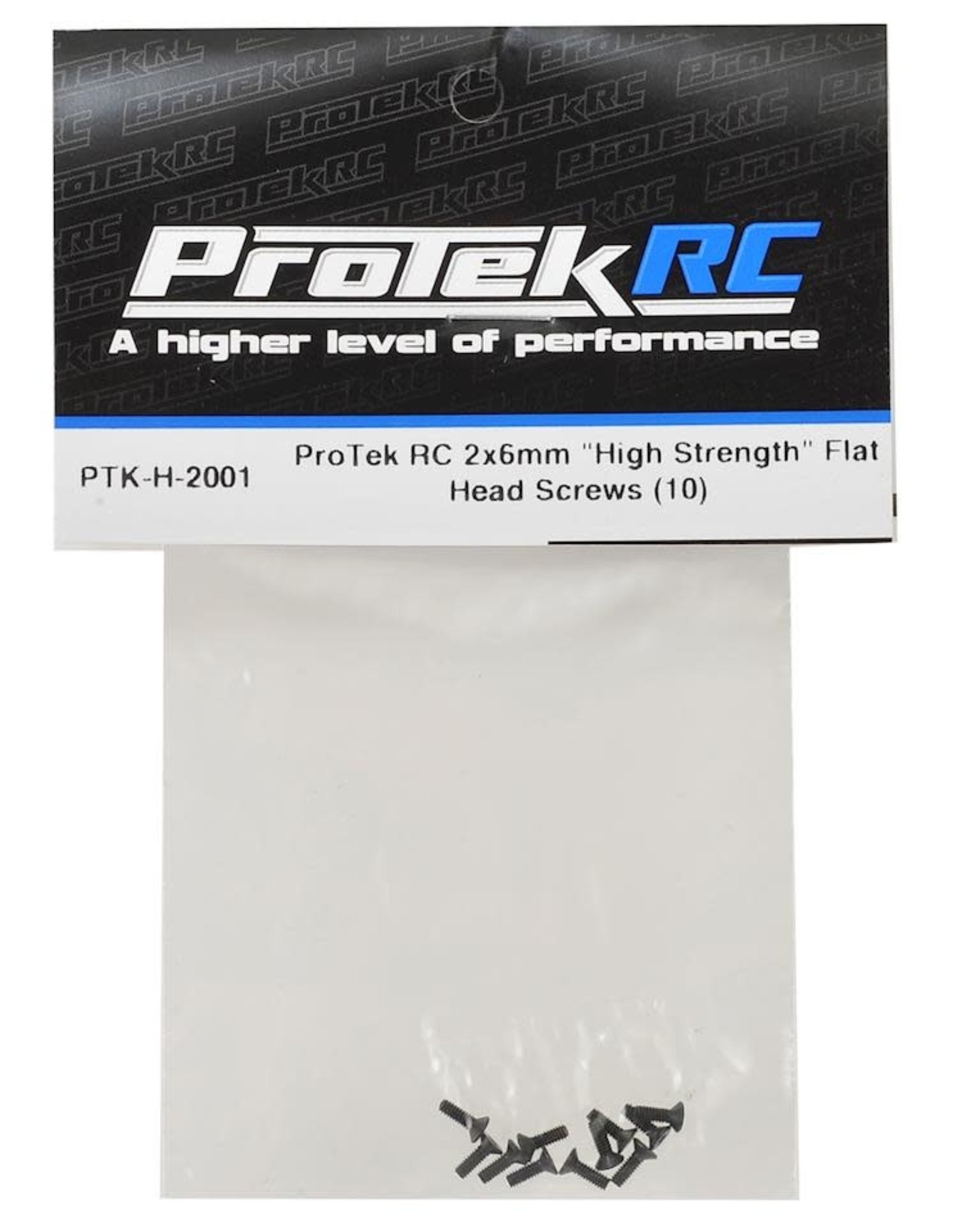 "Protek RC ProTek RC 2x6mm ""High Strength"" Flat Head Screws ( [PTK-H-2001]"