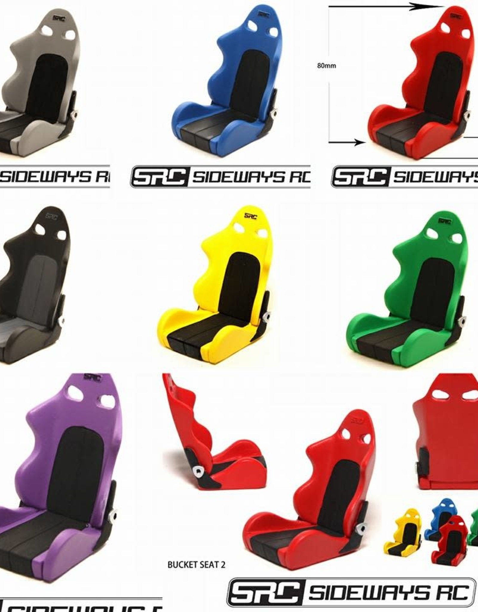 SRC SRCST BUCKET SEAT BY SRC Yellow
