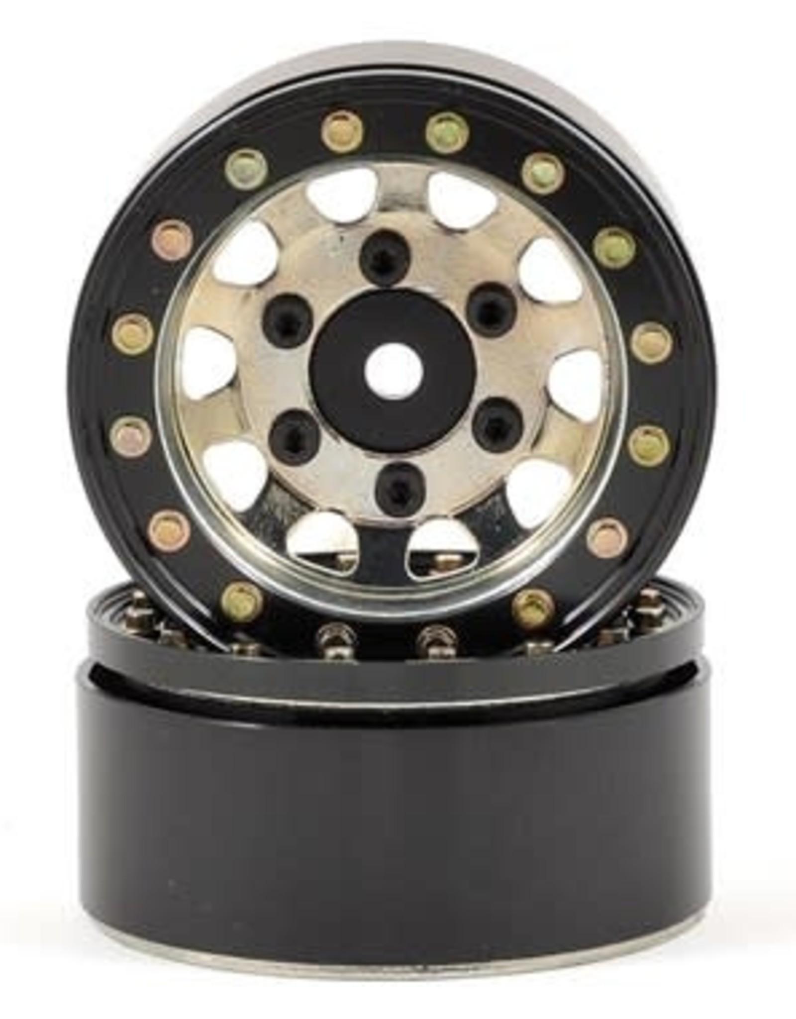 "SSD SSD RC D Hole 1.55"" Steel Beadlock Crawler Wheels (Silver) (2)"