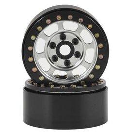"SSD SSD RC Trail 1.9"" Steel Beadlock Crawler Wheels (Silver) (2)"