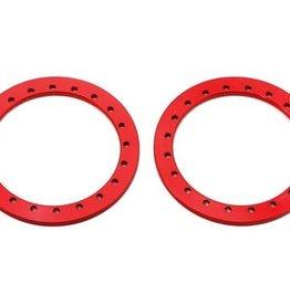 "SSD SSD RC 1.9"" Aluminum Beadlock Rings (Red) (2)"