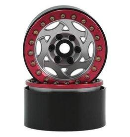 "SSD SSD RC 1.9"" Champion Beadlock Wheels (Silver/Red)"