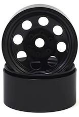 """SSD SSD RC 8 Hole 1.9"""" Steel Beadlock Wheels (Black)"""
