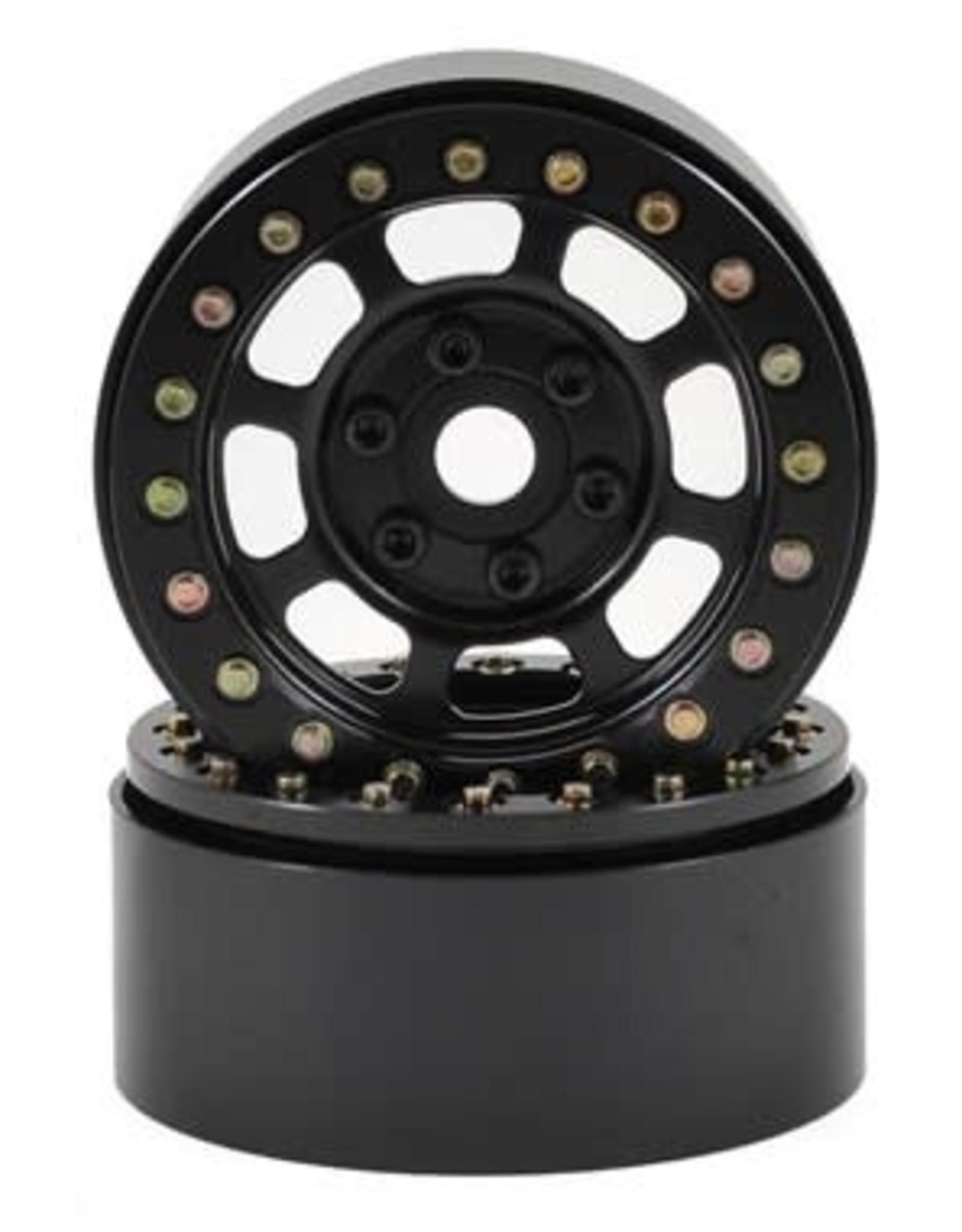 "SSD SSD RC Trail 1.9"" Steel Beadlock Crawler Wheels (Black) (2)"