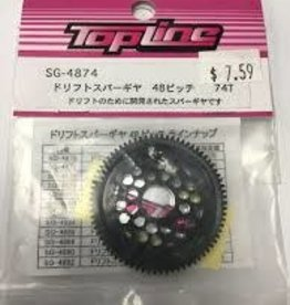 Top Line SG-4872 Precision Spur Gear (72T 48P) - Top Line