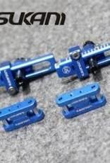 Usukani US8009YB Alloy Adj. Bracket for Stealth Body Post (Yokomo Blue) - Usukani
