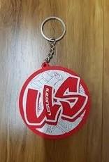Usukani US88120 Logo 2 Keychain (Red) - Usukani