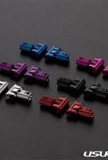 Usukani US88144-BK Usukani V2 Front upper arm set/0-5mm Adjustable Caster/2pcs-2.5mm (BLACK)