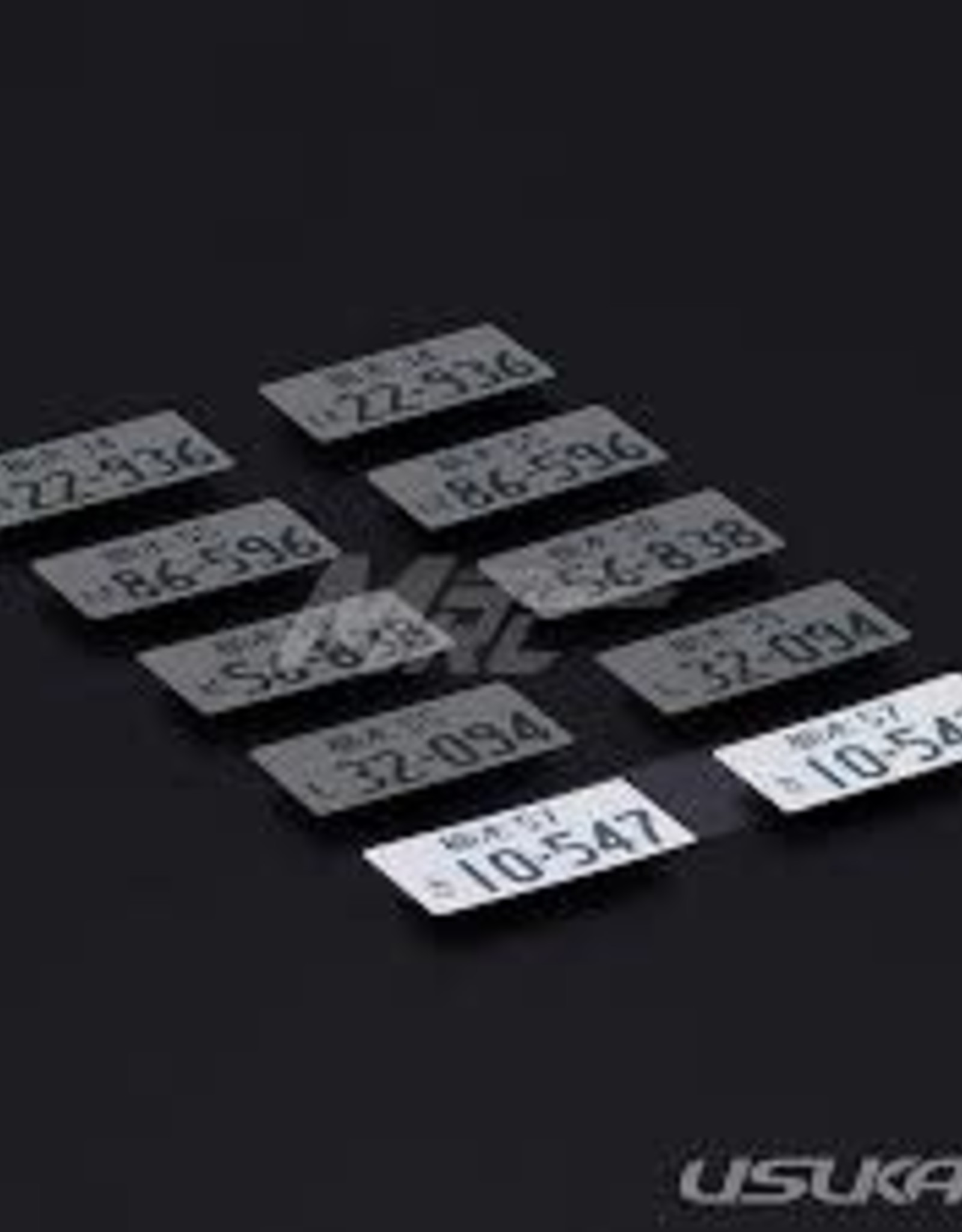 Usukani Usukani 3D License Plate Sticker ( 10-547 )/2pcs