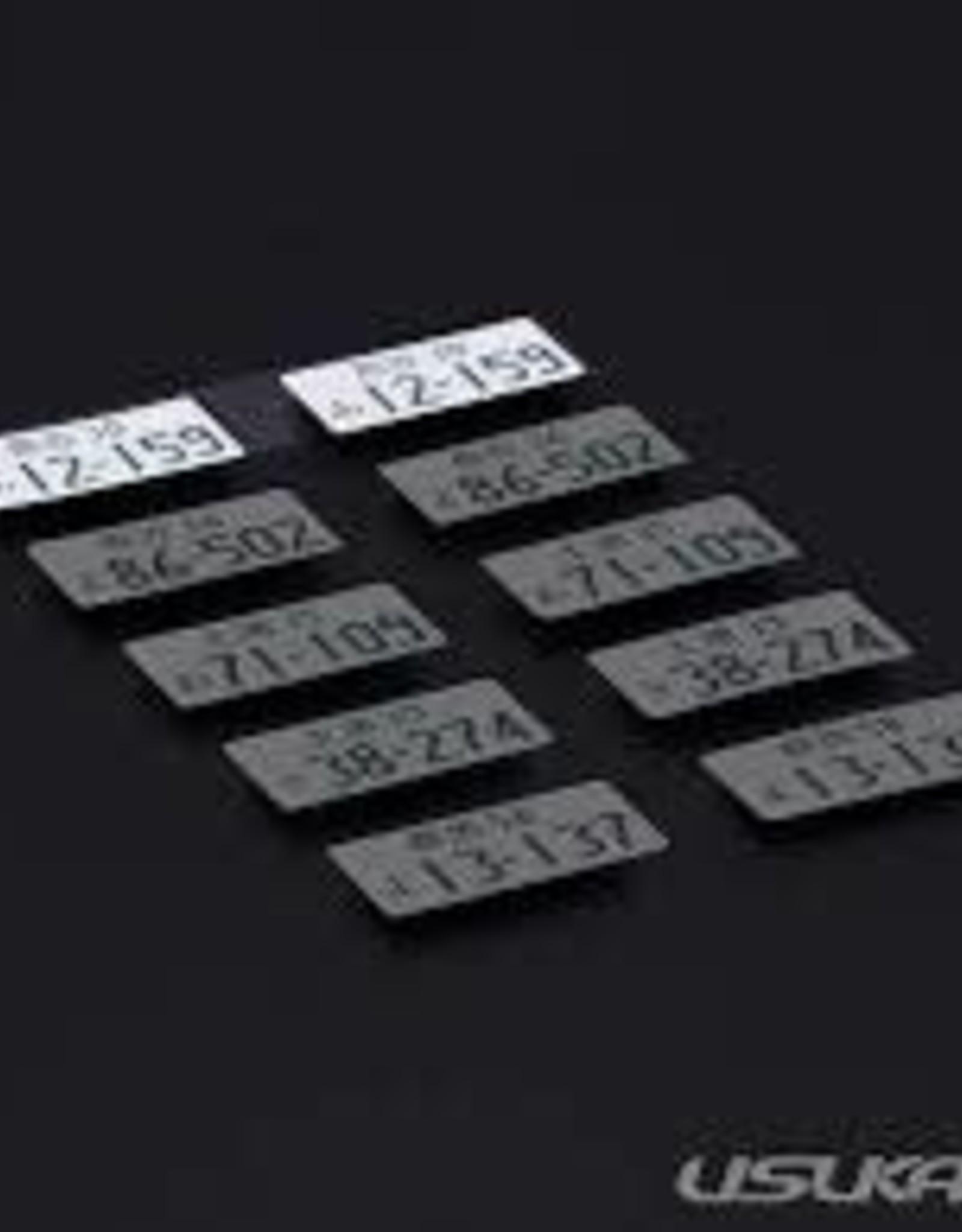 Usukani Usukani 3D License Plate Sticker ( 12-159 )/2pcs