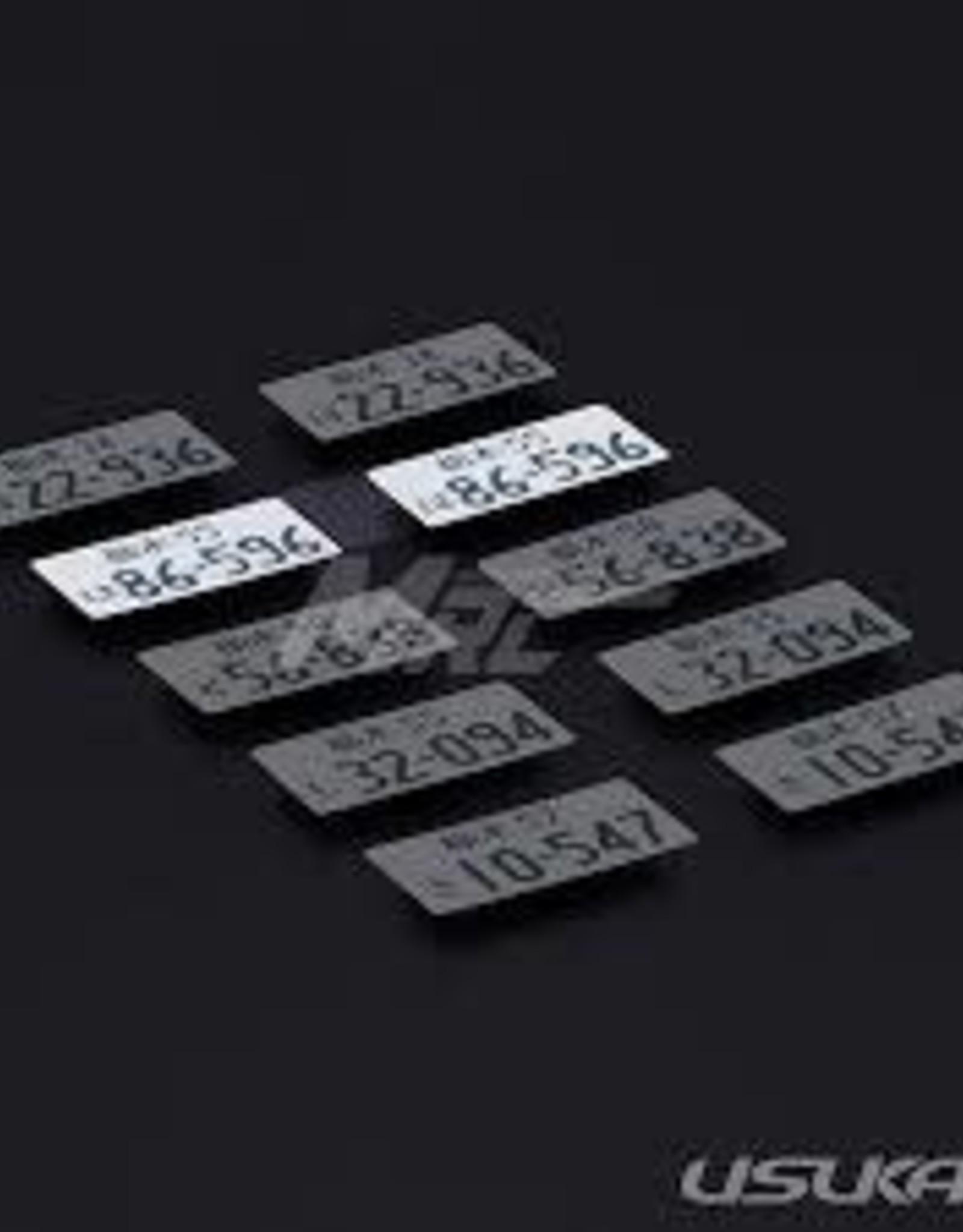 Usukani Usukani 3D License Plate Sticker ( 86-596 )/2pcs