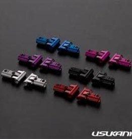 Usukani Usukani V2 Front upper arm set/0-5mm Adjustable Caster/2pcs-2.5mm (RED)