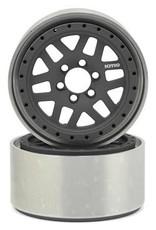 "Vanquish Vanquish Products KMC XD229 Machete 2.2"" Beadlock Wheels (2) (Grey/Black)"