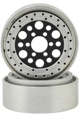 "Vanquish Vanquish Products OMF Outlaw II 1.9"" Beadlock Wheels (Black/Clear) (2)"