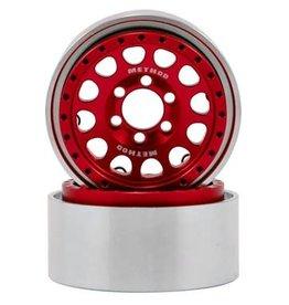 "Vanquish Vanquish Products Method 105 1.9"" Wheel (2) (Red/Black)"