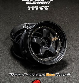 DS Racing Drift Element Adjustable Offset Wheels by DS Racing Black/Gold