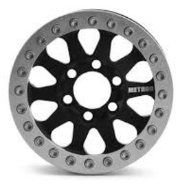 "Vanquish Vanquish Products Method 101 V2 1.9"" Wheel (2) (Black/Silver)"