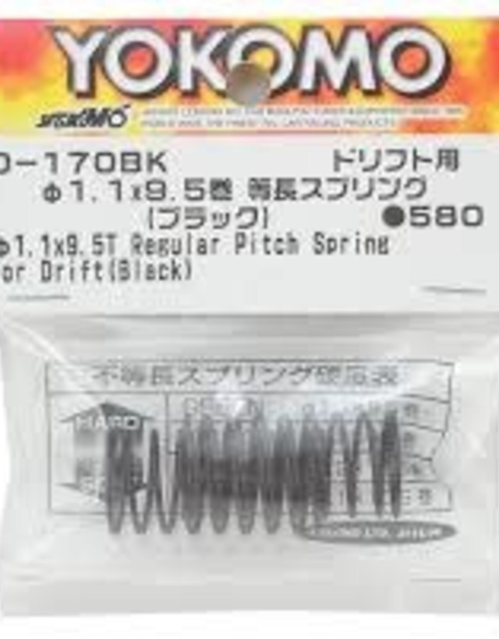 Yokomo YOKD-170BK 32mm Regular Pitch Drift Spring 1.1 x 9.5 coils Black D-170BK Yokomo