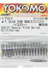 Yokomo YOKD-170Y 32mm Regular Pitch Drift Spring 1.2 x 9.5 coils Yellow D-170Y Yokomo