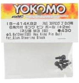 Yokomo YOKIB-414KB2 Button Head King Pin ball for Aluminum steering block (+2mm ISO/3mm Screw) by Yokomo IB-414KB2