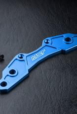 MST MXSPD210400B ALUM. BUMPER SUPPORT L (BLUE) - MST 210400B