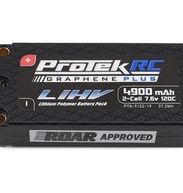 Protek RC ProTek RC 2S 120C Si-Graphene + HV Shorty LiPo Battery (7.6V/4900mAh)