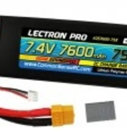 Common Sense Rc Lectron Pro™ 7.4V 7600mAh 35C Lipo Battery with XT60 Connector + CSRC adapter for XT60 batteries to popular RC vehicles