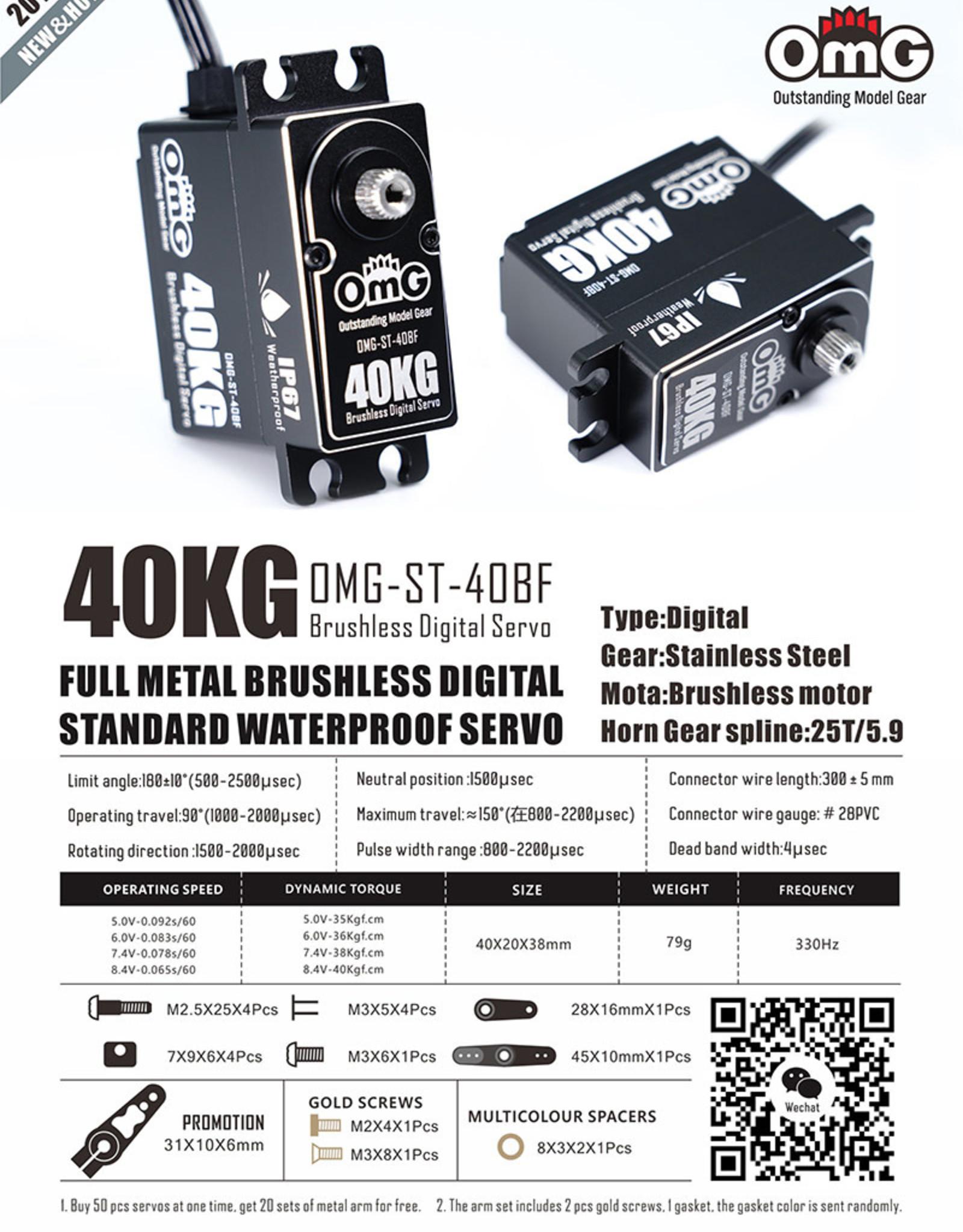 OmG OMG-ST-40BF-PR 40KG WATERPROOF BRUSHLESS DIGITAL SERVO