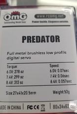 OmG Predator OMG-LP-168F Low Profile Brushless Digital Servo